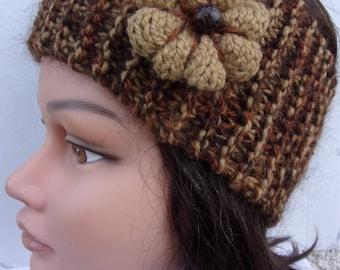 Headband brown and Flower