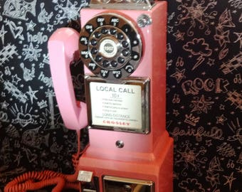Vintage Pay Phone Hot Pink