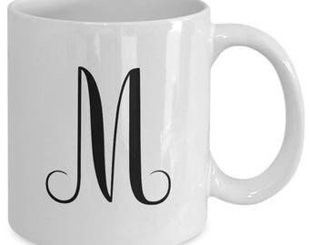 INITIAL MONOGRAM MUG - Personalized Gift - Christmas - Birthday - Wedding - 11 oz white coffee tea cup