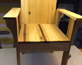 Solid, Stained, Wooden, Outdoor Patio chair