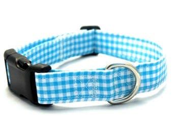 Blue Gingham Collar