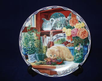 Decorative plate Cat
