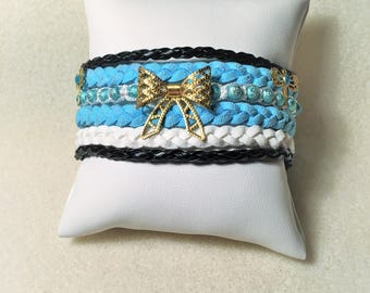"""The blue and gold knot"" bracelet"