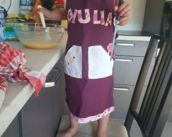 Customizable plum apron themed candy