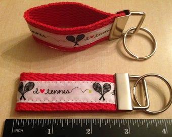 I Love Tennis - 3 inch Key Fob