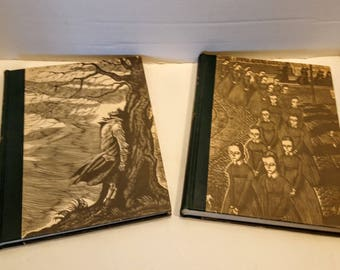 Wuthering Heights and Jane Eyre Book Set Brontë Sisters Wood Engravings by Fritz Eichenberg