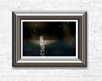 Night Hummer downloadable art for instant printing