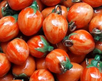Zebra Tomato Earrings