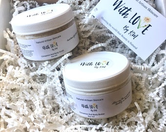 Cinnamon Roll Body Scrub and Body Butter Gift Set Organic Scrub and Lotion Set Vegan Scrub and Body Butter Set Mothers Day Gift