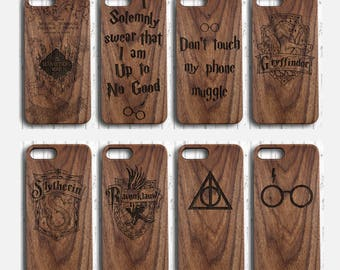 Harry Potter iphone 7  plus  case  Wood The Marauder's Map iphone 6 6s 5s  case Deathly Hallows phone case swear no good