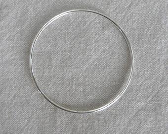 Silver Bangle Bracelet 66 mm