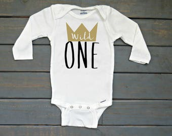 Wild One Birthday Onesie®, Where the Wild Things Are Birthday, Wild and One Birthday Shirt, Boys' First Birthday Onesie®