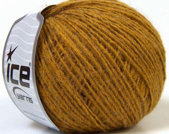 olive green ICE brand yarn