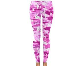 Pink Grunge Love Low Rise Leggings