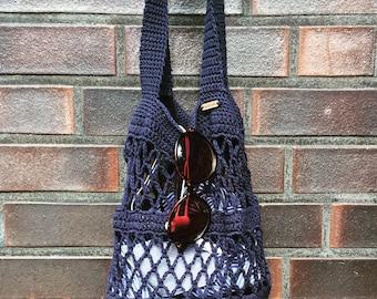 Crochet shopping bag, shopping bag, shopping bag, crochet bag