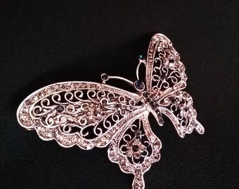 butterfly barrette hairpin Victorian Admiral