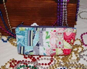 small little zipper bag, bargello bag
