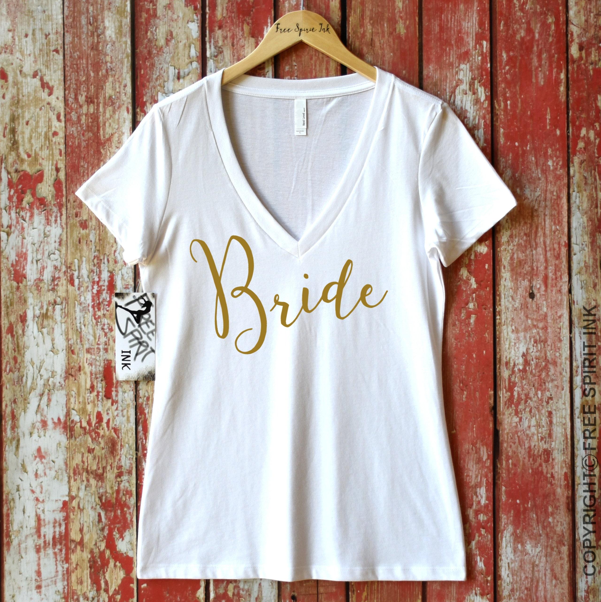 Bride Shirt Bridal Shower Gift Bride T Shirt Bride Tee