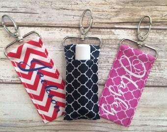Personalized Chapstick Keychain Holder, Stocking Stuffer Ideas, Custom Chapstick Holder, Keychain Chapstick Holder