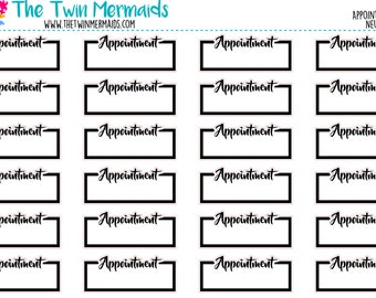 Appointment in Neutral Planner Stickers