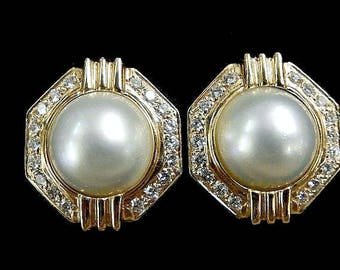 DIAMOND PEARL EARRINGS - 2968mh784