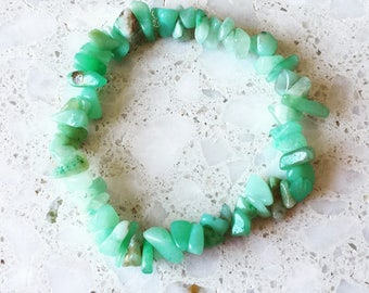Amazonite Chip Stretch Bracelet/ Gemstone Bracelet/ Natural Crystal Bracelet/ Crystal Bracelet/ Healing Bracelet