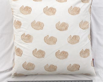 Cinnamon Brown Euro Pillow
