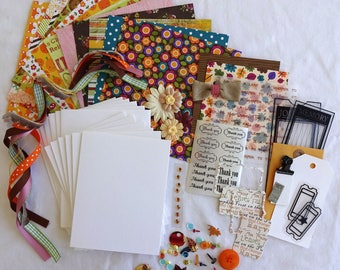 Card Making Kit, Thank You Cards, Thank You, Card Making, DIY Greeting Cards, Card Kit, Kits, Crafts, Cards, Handmade Cards, Fall, Autumn