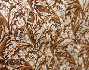 Brown Swirl Fabric, Brown Fabric by the Yard, Swirl Fabric