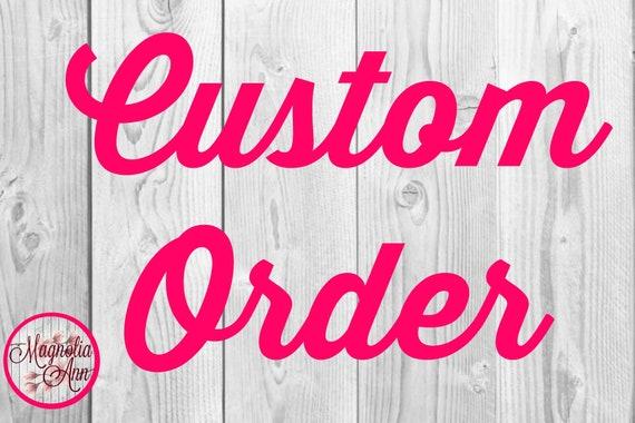 Custom Listing for Sarah S