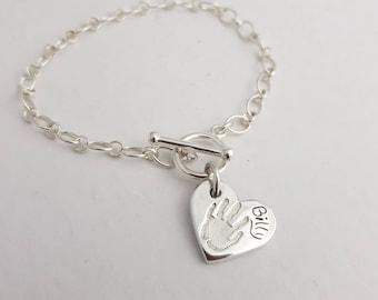 Handprint Charm Belcher Bracelet