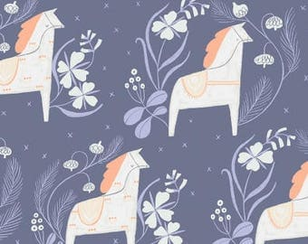 Dear StellaDala Horses Cotton Quilting Fabric Marlin