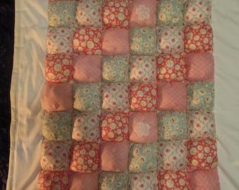 Handmade Puff Quilt Cot/Play Quilt