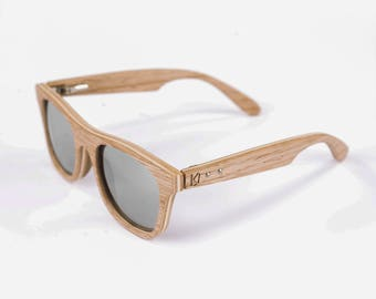 Oak wayfarer sunglasses, Wood eyeglasses, Sunglasses, Wood glasses, Wedding gifts, Bridesmaid gift, Geburtstagsgeschenk, Hochzeit