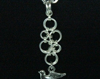 Japanese Weave Dove Chainmaille Necklace  Chainmaille Necklace