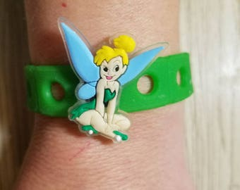 10  Tinker Bell & Peter Pan Silicone Bracelets Party Favors