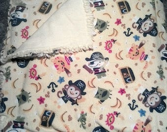 Pirate animals baby blanket