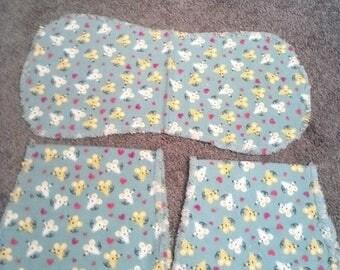 Baby, Mice burp cloth set
