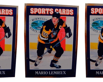 5  -1992 Sports Cards #10 Mario Lemieux Hockey Card Lot Pittsburgh Penguins