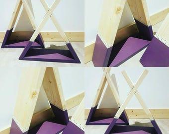 Customizable teepee shelf (color, decoration...)