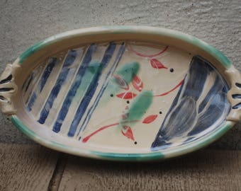 Cream Painted Casserole Dish