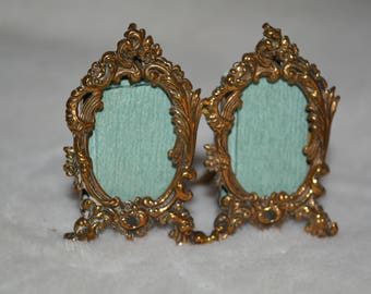 Miniature Victorian French Brass Photograph Frame 2""