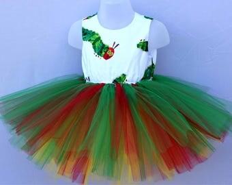 The Hungry Caterpillar Tutu Dress // Handmade Baby Toddler Girls' Birthday // Fancy Dress Party // Princess Costume