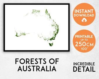 Australia map print, Australia print, Australia poster, Australia wall art, Map of Australia, Australia art print, Australia gift