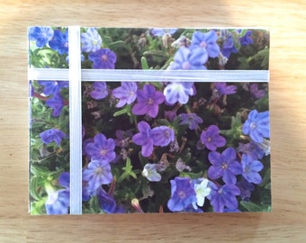 """Handmade Note Cards """"Purple Stars"""" Original Design: 10 Cards and 10 Envelopes - Flowers and Nature Stationery"""