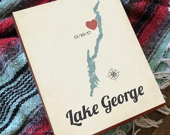 Lake George - Lake George NY - Lake George New York - Lake George Print - Lake George Map - Lake George Wall Art
