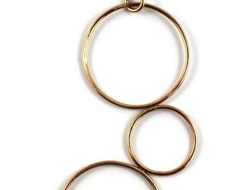 Geometric Bronze 3 loop Necklace | Bronze circle Necklace | Art Deco | Necklace Victoria BC Vancouver Island Canada