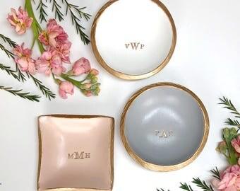 Personalized Ring Dish / Monogram Jewelry Dish / Gift For Her / Bridesmaid Gift / Personalized Jewelry Dish / Engagement Gift / Wedding Gift