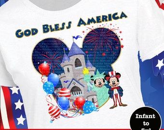 Disney 4th Of July Shirt, Mickey 4th Of July Shirt, Minnie 4th Of July Shirt, Mickey Uncle Sam Shirt, Minnie Liberty Shirt