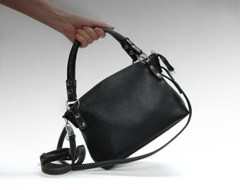 Leather bag soft leather handbag Italian cow leather crossbody women's handbag crossower shoulder bag small leather purse minimalist bag